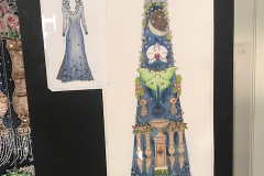 Robes design on paper being displayed