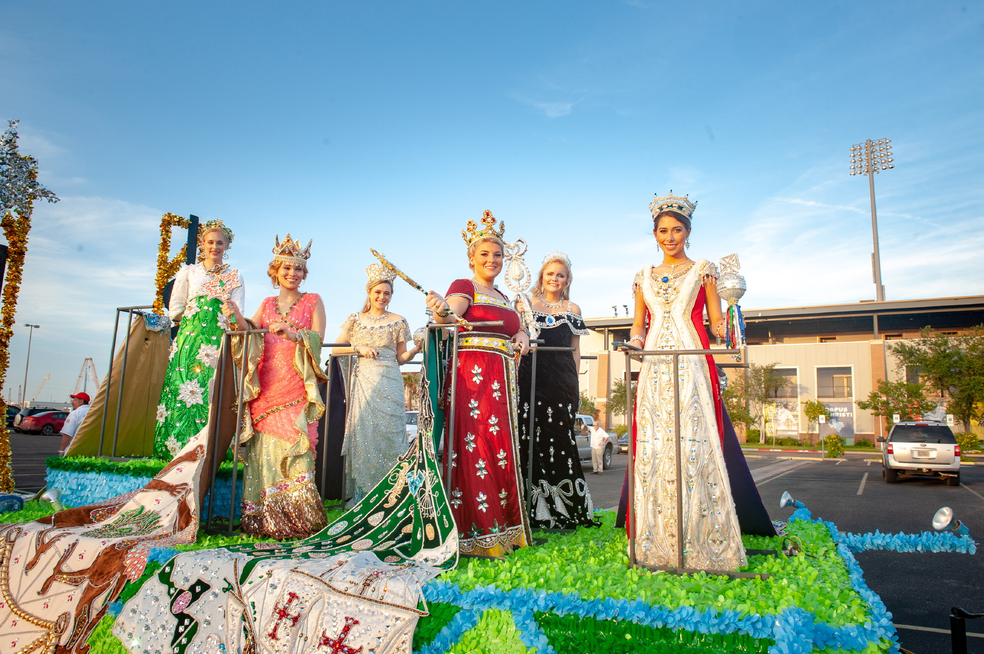 Duchesses on a float