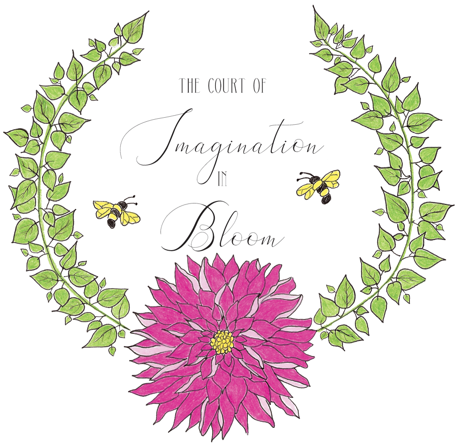 The Court of Imagination In Bloom Logo